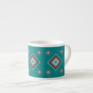 Teal Diamonds Espresso Mug by Janz