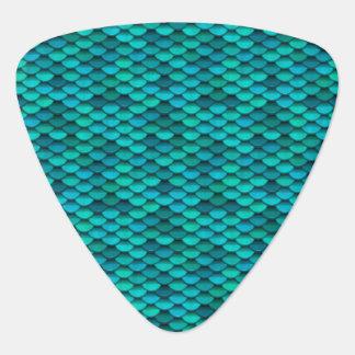 Teal Dragon Scale Blue Green Discs Plectrum