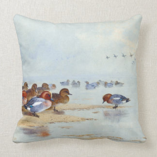 Teal Duck Birds Wildlife Animals Lake Throw Pillow