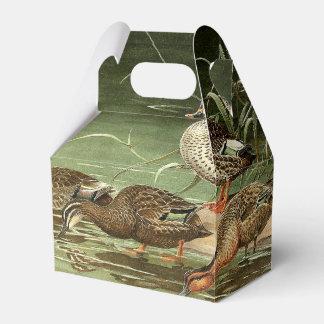 Teal Duck Birds Wildlife Animals Pond Favor Box Favour Box