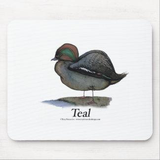 Teal duck, tony fernandes mousepads