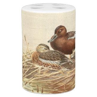 Teal Ducks Birds Wildlife Animals Pond Bath Set