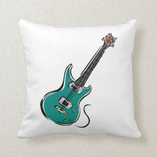 teal electric guitar music graphic.png cushion