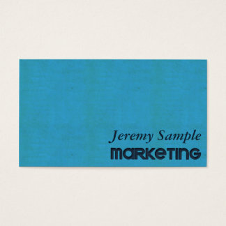 Teal Engraved Business Card
