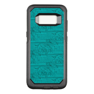 Teal Etched Look Horse Racing Silhouette OtterBox Commuter Samsung Galaxy S8 Case