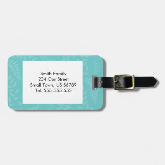 Teal Ferns Foliage Pattern Tags For Bags