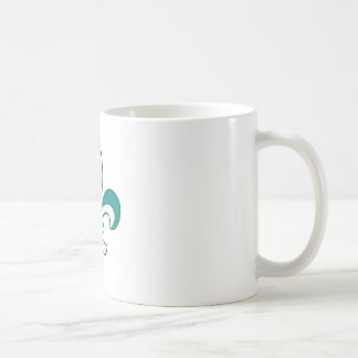 Teal Fleur de Lis Coffee Mugs