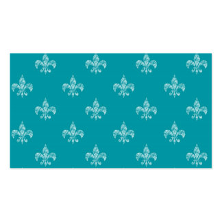 Teal Fleur de Lis Pack Of Standard Business Cards