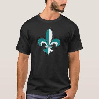 Teal Fleur de Lis T-Shirt