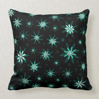 Teal Floral Cushion