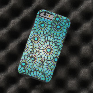 Teal Floral Pattern iPhone 6 case