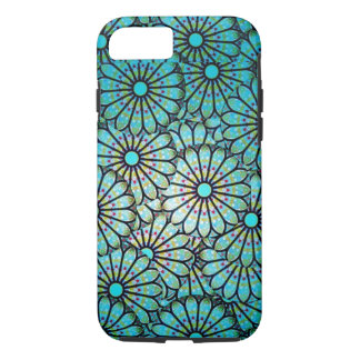 Teal Floral Pattern iPhone 7 case