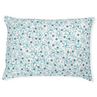 Teal Floral Pet Bed