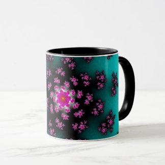 Teal Floral Sprinkles Mug