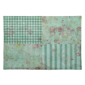 Teal Floral Squares Placemat