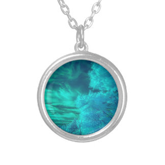 Teal Forest Round Necklace