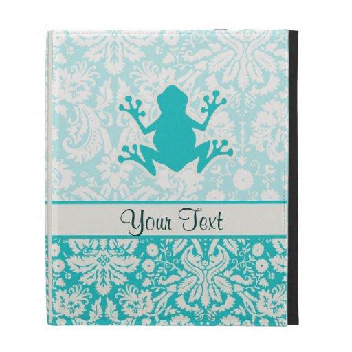 Teal Frog iPad Folio Case