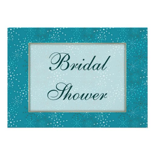Teal Galaxy Bridal Shower invite