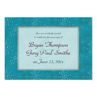 Teal Galaxy WEDDING invitation