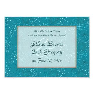 Teal Galaxy WEDDING invitation