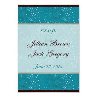 Teal Galaxy Wedding RSVP 9 Cm X 13 Cm Invitation Card