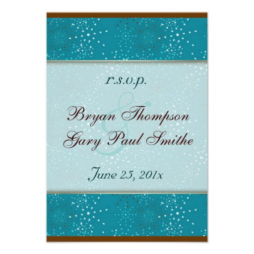 Teal Galaxy Wedding RSVP Invitations