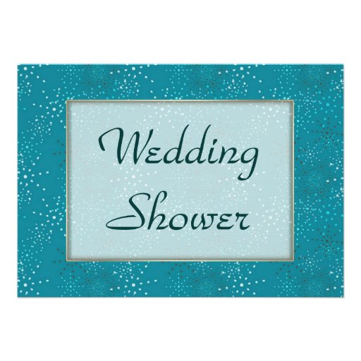 Teal Galaxy WEDDING Shower invite