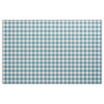 Teal Gingham Pattern Fabric