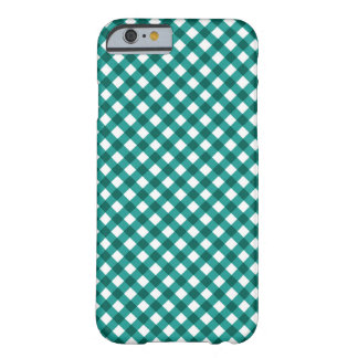 Teal Gingham Pattern iPhone 6 case