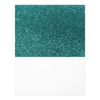 Teal glitter 21.5 cm x 28 cm flyer