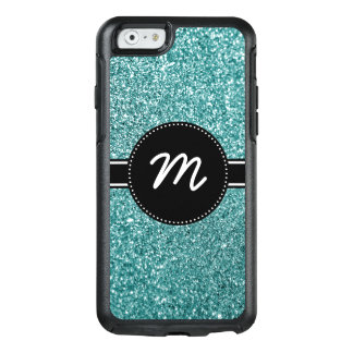 Teal Glitter Monogram OtterBox iPhone 6/6s Case