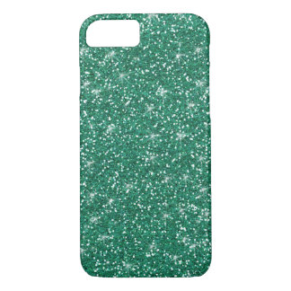 Teal Glitter Printed iPhone 8/7 Case