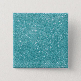 Teal Glitter Sparkles 15 Cm Square Badge