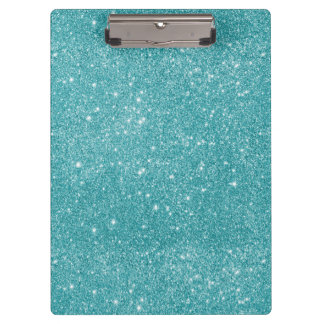 Teal Glitter Sparkles Clipboard