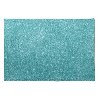 Teal Glitter Sparkles Placemat