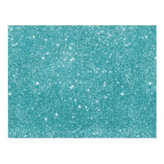 Teal Glitter Sparkles Postcard