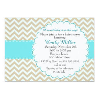 Teal Gold Baby Shower Invitation