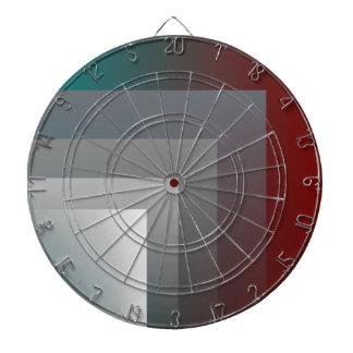 teal gray burgundy dart board