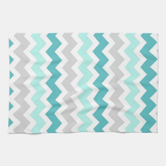 Teal Gray Chevron Kitchen Cloth Towel