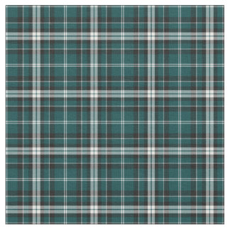 Teal Green, Black and White Sporty Plaid Fabric
