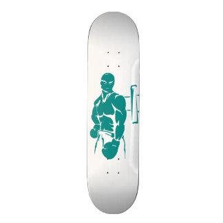 Teal Green Boxing 20.6 Cm Skateboard Deck