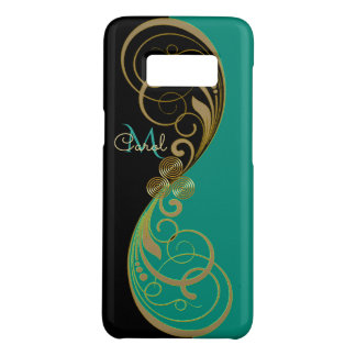 Teal Green Celtic Triskele Monogram Case-Mate Samsung Galaxy S8 Case