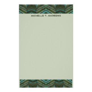 teal green customised stationery