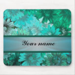 Teal green floral pattern