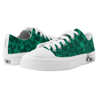 Teal Green Forest Pattern Canvas Shoes