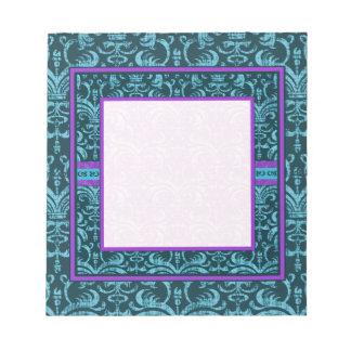Teal Green Gothic Grunge Elegant Notepad