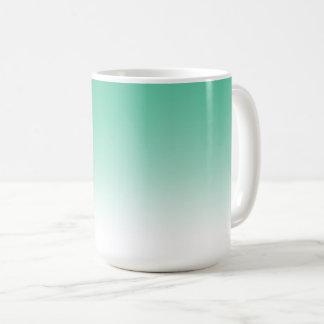 Teal Green Gradient Color Ombre Mug