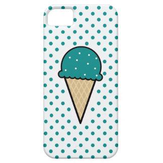 Teal Green Ice Cream Cone iPhone 5 Case