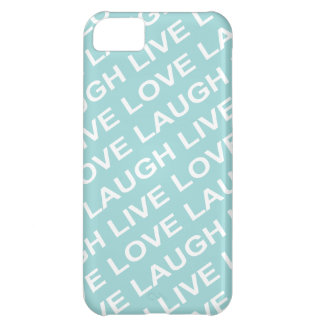 Teal Green Love Text Pattern iPhone 5C Case