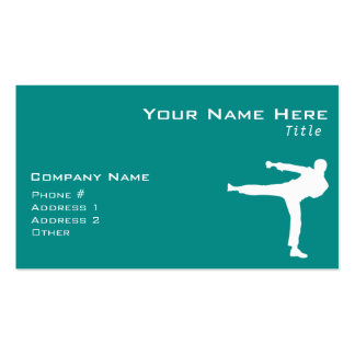 Teal Green Martial Arts Business Card